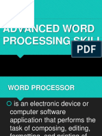 Lesson 3 - Advanced Word Processing Skills Part 2