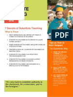 Subsitute Teaching Newsletter