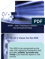 Introduction to E-SRE Training
