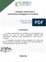 Aprendizagem colaborativa e conectivismo pedagógico no Facebook