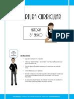 Cobertura Curricular Historia 8basico 2012