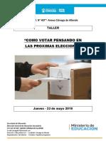 1° Taller  Ciudadanía y participación 2019