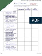 Constructivist Checklist