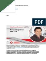 Protección Policial en El Perú