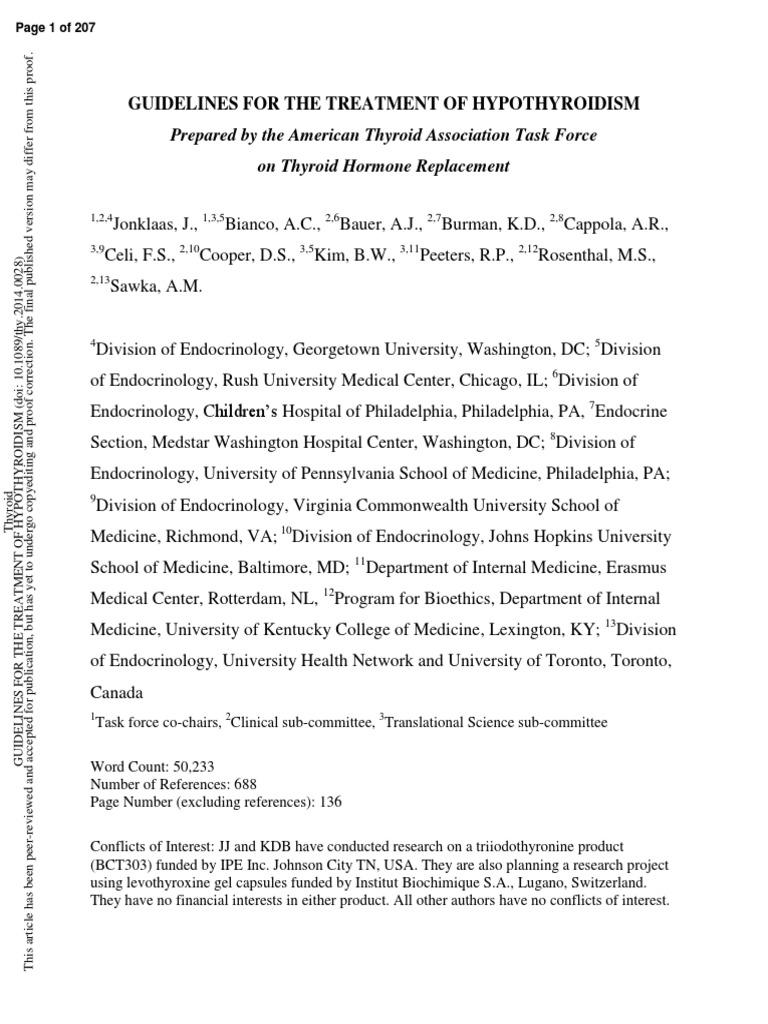 Guia Hipotiro Hypothyroidism Endocrine System