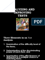 Analyzing Tests