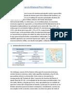 Comercio Bilateral Perú-Mexico