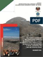 PREVENCION Y REDUCCION DE RIESGOS EN LIMA METROPOLITANA