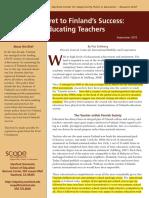 Finlandia y educación para profesores
