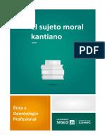 EL SUJETO MORAL KANTIANO