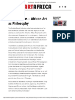 IncarNations - African Art as Philosophy - Art Africa Magazine