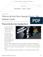 Best Chess Opening Moves - The Definitive Guide to Opening Moves