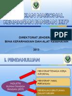 Kebijakan Keamanan Pangan IRTP FIX