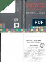 Ordenación General Del Misal Romano-COMENTARIO de ALDAZÁBAL