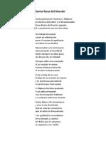 Santa Rosa del Mundo.doc