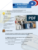 a1 Writing Assessment 5 at the Clothes Department