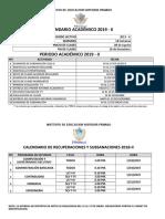 Calendarización 2019 II