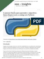 6 Passos Fáceis Para Aprender o Algoritmo Naive Bayes (Com o Código Em Python) – Vooo – Insights