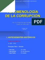 Fenomenología de la corrupción en el Perú