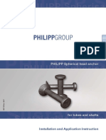PHILIPP Spherical Head Anchor for Tubes and Shafts