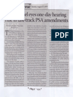 Business Mirror, Aug. 27, 2019, House panel eyes one-day hearing rule to fast-track PSA amendments.pdf