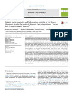 Organic Matter Maturity and Hydrocarbon Potential of the Lower Oligocene Menilite Facies in the Eastern Flysch Carpathians (Tarcău and Vrancea Nappes), Romania