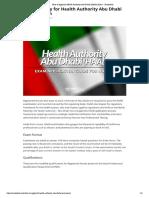 How to Apply for Health Authority Abu Dhabi (HAAD) Exam - Nurseslabs