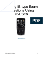 Solving IB-type Exam Questions Using Casio Fx-CG20 - Ibrahim Wazir - CASIO 2015
