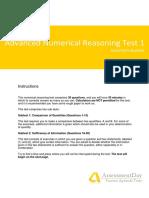 Advance Numerical Reasoning Test
