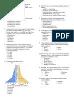 Ulangan Harian Geografi Kelas Xi (Kependudukan)