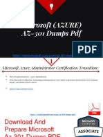 Microsoft (AZURE) AZ-301 Dumps PDF - Best Study Material Ever