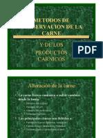 Metodos de Conservacion de La Carne y Productos