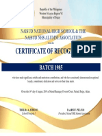 Certificate Alumni for Guest