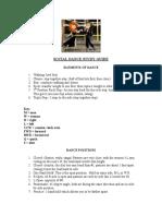 Social Dance Study Guide