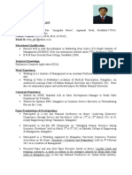 Resume of Deepak Rao