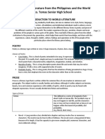 Introduction to World Literature Handout