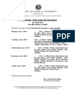 Notice of Bar review sched