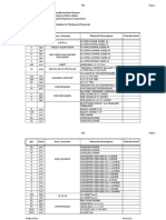 Delivery Schedule - Cbh Project Mepf Materials