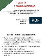 Unit 3- Brand Image Building – Brand Loyalty Programmes
