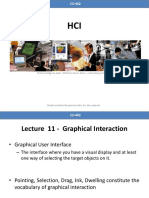 Lecture 11 - Graphical Interaction
