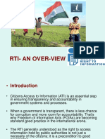 Rti Act - An Over View