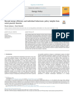 Beyond Energy Efficiency and Individual Behaviours - Insights from Social Practice Theories