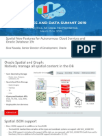 Spatial New Features for Autonomous Cloud Services and Oracle Database 19c