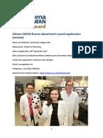 University College Cork School of Chemistry Bronze Award Application