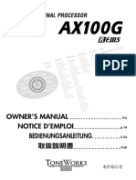 Manual book effect gitar korg AX100G