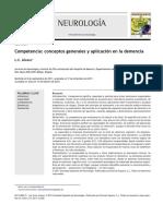 comp0etencia, aspectos generales y aplicacion en la demencia