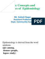 Basic Concepts of Epidemiology