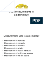 Epidemilogy Measurment Methods