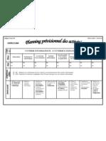 Planning prévisionnel des activités1