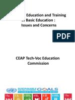 Tech-VocEducation and Training by Fr. Jun Inocencio
